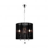 P208, 3 x 40w E14, black string shade, chrome metalware, 28cm high, 33cm wide
