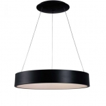 P41, 27w LED, 4000k, 2100 lumens, 450mm diameter, 1200mm cable length, matt black with opal plastic diffuser