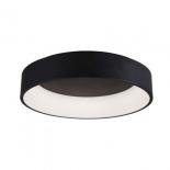 P41, 27w LED 4000K, 2100 lumens, matt black with opal plastic diffuser, 130mm high, 455mm diameter