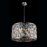 P25, 5 x 40w E14, chrome metal ware, clear and champagne crystal, 320mm high, 420mm wide, 1m of chain