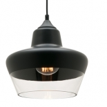 P151, 60w E27, black with clear glass, 230mm high, 250mm wide, 2m cord