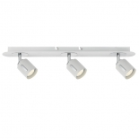 SP1, 3 x 6w LED globes, 500 lumens per globe, white metalware with chrome highlights, 570mm long