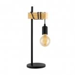 TL160, 1 x 10w E27, light timber & black, 500mm high