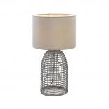 TL174, 1 x 25w E27, grey coloured woven base, 590mm high, 350mm wide