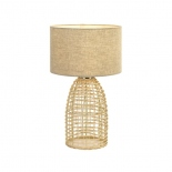 TL174, 1 x 25w E27, sand coloured woven base, 590mm high, 350mm wide