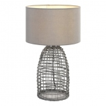 TL174, 1 x 25w E27, grey coloured woven base, 730mm high, 440mm wide