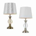 TL113, 1 x 40w E27, available in antique brass/gold & nickel/white, 250mm wide, 480mm high