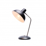 TL129, 25w E27, Black with brushed chrome highlights, 38cm high