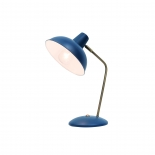 TL129, 25w E27, navy blue with antique brass highlights, 38cm high