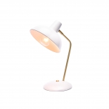 TL129, 25w E27, white with antique brass highlights, 38cm high