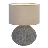 TL175, 1 x 25w E27,  grey woven base, 495mm high, 380mm wide