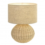 TL175, 1 x 25w E27, sand coloured woven base,  495mm high, 380mm wide