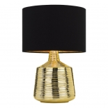 Tl176, 1 x 25w E27,  gold coloured base, black shade with gold inside, 510 high, shade 340mm wide