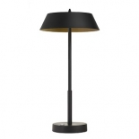 TL168, 7w LED, 3 stage touch lamp, matt black & gold metalware, 425mm high, 220mm wide