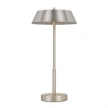 TL168, 7w LED, 3 stage touch lamp,nickle & silver metalware, 425mm high, 220mm wide