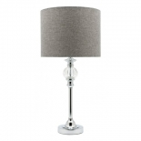 TL1, 60w E27, chrome base with grey shade, 620mm high