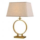 TL191, 1 x 60w E27, antique gold metal ware, cream shade, 680mm high