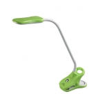 DL12, 5w LED, clamp lamp with stand, green