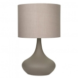 TL134, 1 x 60w E27, on/off touch lamp, concrete coloured base, grey shade, 49cm high