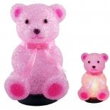 TL77 - Pink Teddy night light, 1 x 5-7w E12