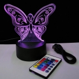 TL147, butterfly visual RGB dimmable lamp, battery or USB operated