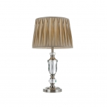 TL103, 40w E27, cream shade, nickel and crystal base, 630mm high