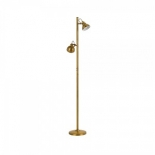 FL49, 2 x 5w GU10 LED (not included), antique brass metalware, 1500mm high, 110mm base
