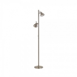 FL49, 2 x 5w GU10 LED (not included), satin nickle metalware, 1500mm high, 110mm base