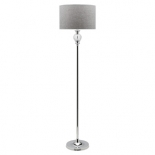 FL4, 60w E27, chrome base with a grey shade, 1565mm high