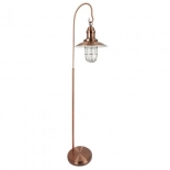 FL17, 1 x 60w, copper metal ware, 156cm high