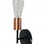 WB37, 1 x 60w E27, black & antique copper, 170mm high, 90mm projection