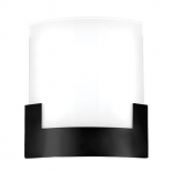 WB32, 12w LED, tri colour 3000k, 4000k & 5000k, 960 lumens, dimmable, black/frost glass, 200mm x 200mm