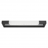 VL6, Vanity Light, black metal ware, frosted diffuser, available in 16w, & 20w LED