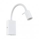 WB25, 3.5w LED, 3000k, 380 lumens, rocker switch, white metalware, 300mm high