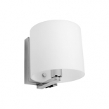 WB21, 1 x 40w E14, switch on fitting, frost glass, chrome metalware, 150mm high, 148mm wide, 173mm projection