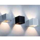 Tourmaline 6w LED, 400 lumens -3000k only, available in black/gold, white/gold, textured white & textured black finishes, dimmable, 100mm square, in built driver,2 year warranty